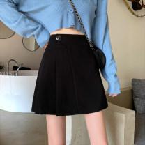 skirt Summer 2021 S M L XL 2XL Short skirt commute High waist A-line skirt Solid color A4569 More than 95% John Ratzenberger  other Other 100% Pure e-commerce (online only)