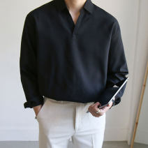 shirt Fashion City Taolin M L XL 2XL Blue black white routine stand collar Long sleeves easy Other leisure spring youth Polyester fiber 88.2% viscose fiber (viscose fiber) 9.5% polyurethane elastic fiber (spandex) 2.3% Exquisite Korean style 2020 Solid color Spring 2020 other