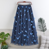 skirt Winter 2020 Average size Blue, gray, black, pink Mid length dress Versatile High waist A-line skirt Solid color Type A 18-24 years old 71% (inclusive) - 80% (inclusive) other polyester fiber Gauze 181g / m ^ 2 (including) - 200g / m ^ 2 (including)
