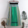 skirt Summer 2020 Average size Green, red Mid length dress Versatile High waist Pleated skirt other Type A 18-24 years old 71% (inclusive) - 80% (inclusive) other polyester fiber Splicing 181g / m ^ 2 (including) - 200g / m ^ 2 (including)
