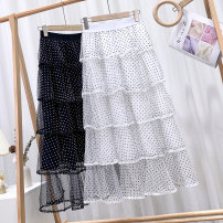skirt Winter 2020 Average size White black dot, white white dot, black white dot, black black dot longuette Versatile High waist Cake skirt Dot Type A 18-24 years old 71% (inclusive) - 80% (inclusive) other polyester fiber Splicing 201g / m ^ 2 (including) - 250G / m ^ 2 (including)