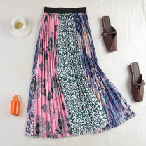 skirt Spring 2021 Average size Pink green, purple blue, yellow white, blue white, pink white Mid length dress Versatile Natural waist Pleated skirt Decor Type A 18-24 years old 71% (inclusive) - 80% (inclusive) other polyester fiber printing 161g / m ^ 2 (including) - 180g / m ^ 2 (including)