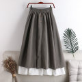 skirt Spring 2021 Average size Khaki, grey, black Mid length dress Versatile High waist A-line skirt Solid color Type A 18-24 years old 71% (inclusive) - 80% (inclusive) other polyester fiber Splicing 181g / m ^ 2 (including) - 200g / m ^ 2 (including)