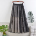 skirt Spring 2021 Average size Apricot, coffee, grey, black, khaki, pink Mid length dress Versatile High waist A-line skirt Solid color Type A 18-24 years old 71% (inclusive) - 80% (inclusive) other polyester fiber Mesh, stitching, lace 181g / m ^ 2 (including) - 200g / m ^ 2 (including)