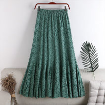 skirt Autumn 2020 Average size Green, white longuette Versatile High waist A-line skirt Dot Type A 18-24 years old 71% (inclusive) - 80% (inclusive) other polyester fiber printing 141g / m ^ 2 (including) - 160g / m ^ 2 (including)