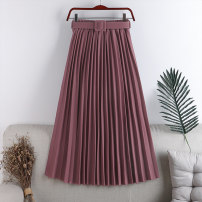 skirt Autumn 2020 Average size Mid length dress Versatile High waist A-line skirt Solid color Type A 18-24 years old 71% (inclusive) - 80% (inclusive) other polyester fiber 161g / m ^ 2 (including) - 180g / m ^ 2 (including)
