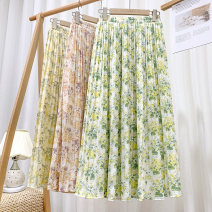 skirt Spring 2021 Average size New green flowers, new yellow flowers, new red flowers Mid length dress Versatile High waist A-line skirt Broken flowers Type A 18-24 years old 71% (inclusive) - 80% (inclusive) other polyester fiber printing 201g / m ^ 2 (including) - 250G / m ^ 2 (including)