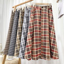skirt Spring 2021 Average size Mid length dress Versatile High waist A-line skirt lattice Type A 18-24 years old 71% (inclusive) - 80% (inclusive) other polyester fiber zipper 201g / m ^ 2 (including) - 250G / m ^ 2 (including)