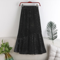 skirt Autumn 2020 Average size Black, brown, black (sequins) Mid length dress Versatile High waist A-line skirt Dot Type A 18-24 years old 71% (inclusive) - 80% (inclusive) other polyester fiber printing 181g / m ^ 2 (including) - 200g / m ^ 2 (including)