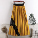 skirt Autumn 2020 Average size Black, khaki, green, yellow, purple, grayish blue Mid length dress Versatile High waist A-line skirt Solid color Type A 18-24 years old 71% (inclusive) - 80% (inclusive) other polyester fiber Stitching, lace 141g / m ^ 2 (including) - 160g / m ^ 2 (including)