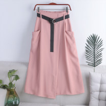 skirt Spring 2021 Average size Ginger, apricot, blue, gray, black, pink Mid length dress Versatile High waist A-line skirt Solid color Type A 18-24 years old 71% (inclusive) - 80% (inclusive) other polyester fiber 181g / m ^ 2 (including) - 200g / m ^ 2 (including)