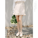 skirt Spring of 2019 S M L Beixing orange Short skirt commute High waist A-line skirt Solid color Type A 18-24 years old 18TX6015 51% (inclusive) - 70% (inclusive) Dingjin (clothing) polyester fiber Korean version Polyester fiber 60% cotton 35% polyurethane elastic fiber (spandex) 5%