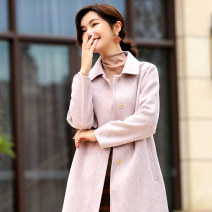 woolen coat Winter of 2019 M L XL Haze blue lilac wool 95% and above Medium length Long sleeves commute Buckle routine Polo collar Self cultivation Ol style TPF2112 Jointal / joneta Wool 100% Pure e-commerce (online only)