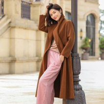 woolen coat Winter of 2019 L XL XXL XXXL Chocolate (small size, buy a size larger) wool 95% and above have more cash than can be accounted for Long sleeves Sweet Buckle routine tailored collar Solid color Self cultivation HS8E2059 Jointal / joneta Wool 100% Pure e-commerce (online only) Ruili