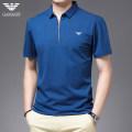 T-shirt Fashion City Deep blue rose, emerald green, white and black thin 48/M 50/L 52/XL 54/2XL 56/3XL 58/4XL Chiamania Short sleeve Lapel standard Other leisure spring XQEJ-9997 Polyamide fiber (nylon) 59.7% cotton 36.9% polyurethane elastic fiber (spandex) 3.4% middle age routine Business Casual