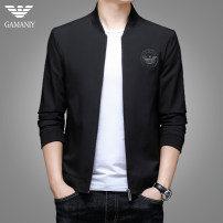 Jacket Chiamania Fashion City Blue black green 170 175 180 185 190 routine standard Other leisure autumn QHD-08101 Polyester 100% Long sleeves Wear out Baseball collar tide youth routine Zipper placket Rib hem No iron treatment Closing sleeve Solid color polyester fiber Spring 2021 Side seam pocket
