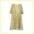 Dress Summer 2021 Light yellow, blue S,M,L,XL Mid length dress singleton  Short sleeve commute Crew neck High waist Solid color Socket One pace skirt routine camisole Type A Korean version More than 95% other other