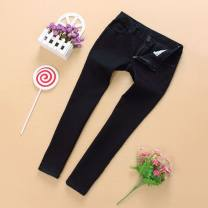 trousers Vellmentto / valmonto female black summer Cropped Trousers leisure time No model Jeans Button / zipper middle-waisted Denim Don't open the crotch Cotton 98% polyurethane elastic fiber (spandex) 2% Class B 7, 8, 9, 10, 11, 12, 13, 14