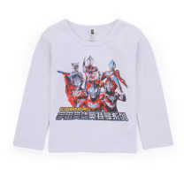 T-shirt Ultraman (mother and infant) 100cm 110cm 120cm 130cm 140cm 150cm male spring and autumn Long sleeves Crew neck leisure time There are models in the real shooting nothing cotton Cartoon animation Cotton 95% polyurethane elastic fiber (spandex) 5% Class B Sweat absorption Spring of 2019