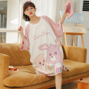 Nightdress Daymeey / daimi 155(S) 160(M) 165(L) 170(XL) 175(XXL) Cartoon Short sleeve pajamas Middle-skirt summer Cartoon animation youth Crew neck cotton printing More than 95% pure cotton L2558 200g and below Summer 2021 Cotton 100% Pure e-commerce (online only)