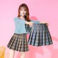skirt Autumn 2020 S M L XL Black blue Khaki Short skirt commute High waist Pleated skirt 25-29 years old T2082232-8705 SMSD / Shenma Era Pleated zipper Korean version Exclusive payment of tmall