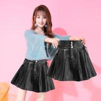skirt Autumn 2020 S M L XL XXL black Short skirt commute High waist Umbrella skirt 25-29 years old T2072835-9550 SMSD / Shenma Era Bandage Korean version Exclusive payment of tmall