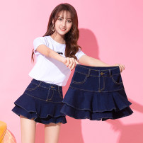 skirt Spring of 2019 S M L XL XXL Short skirt commute High waist Ruffle Skirt Solid color Type A 25-29 years old More than 95% SMSD / Shenma Era other Pocket zipper Korean version Other 100% Pure e-commerce (online only)