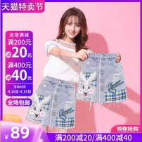 Casual pants blue XXL S M L XL Summer 2020 shorts Wide leg pants High waist Versatile routine 25-29 years old SMSD / Shenma Era Cotton 75% polyester 25% Exclusive payment of tmall
