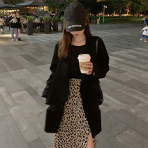 skirt Spring 2021 S M L Coffee Leopard Print longuette commute High waist A-line skirt Leopard Print 25-29 years old JW94 More than 95% other Tian Yao polyester fiber Korean version Polyester 100% Exclusive payment of tmall