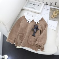 Sweater / sweater The recommended height is 73-80cm for tag 5, 85CM for tag 7, 90cm for tag 9, 95cm for tag 11 and 100cm for tag 13 other neutral Khaki, espresso, espresso Other / other Korean version No model Socket routine Crew neck nothing Coarse wool Solid color