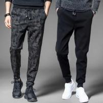 Casual pants Others Youth fashion Camouflage pants [regular], two bar Leggings [regular], leather rope black [regular], leather three bar [regular], white chest stripe routine Ninth pants motion Self cultivation Micro bomb summer Large size like a breath of fresh air 2018 middle-waisted Sports pants
