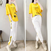 Fashion suit Summer 2020 S M L XL XXL 257 # yellow [two piece set] 257 # red [two piece set] 257 # yellow [single pants] Tracing 257# Polyester 100% Pure e-commerce (online only)