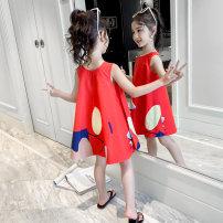 Dress female 110cm 120cm 130cm 140cm 150cm 160cm Other 100% summer Korean version Skirt / vest Cartoon animation Cotton blended fabric A-line skirt Class B Summer 2020 Chinese Mainland Zhejiang Province Huzhou City