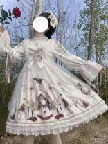 Lolita / soft girl / dress white No season Customized