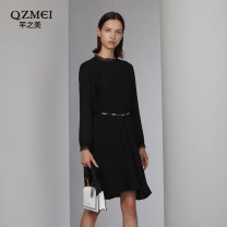 Dress Spring 2020 M/66 L/77 XL/88 XXL/99 XXXL/108 XXXXL/118 XXXXXL/128 XXXXXXL/138 Mid length dress singleton  Long sleeves Sweet Others 30-34 years old Type H The beauty of Qian More than 95% polyester fiber Polyester 100% Countryside Same model in shopping mall (sold online and offline)