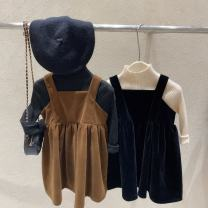Dress Single piece -- black c20733 with strap skirt in stock, single piece -- coffee c20733 with strap skirt in stock, single piece -- milk white base coat (larger), single piece -- black base coat (larger), single piece -- Beige base coat (larger) female Other / other Cotton 100% spring and autumn