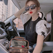 Wool knitwear Spring 2021 Average size White, black Short sleeve singleton  Socket other 31% (inclusive) - 50% (inclusive) Regular routine commute Self cultivation Low crew neck routine Solid color AMY6623 Other / other