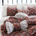 Bedding Set / four piece set / multi piece set cotton other Plants and flowers 133x72 Other / other cotton 4 pieces 60 Style one, style two, style three Bed skirt Korean style 100% cotton Reactive Print