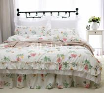 Bedding Set / four piece set / multi piece set cotton other Flowers and birds 133x72 Other / other cotton 4 pieces 40 white European style 100% cotton twill Reactive Print