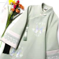 jacket Winter of 2018 Double crane cheongsam coat (pre sale) SMLXLXXL eighteen thousand and twelve Magic heart commune 18-25 years old Other 100% Pure e-commerce (online only)