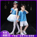 Children's performance clothes Sky blue skirt girl, sky blue suit boy, men's, women's neutral 110cm,120cm,130cm,140cm,150cm,160cm Other / other Class B blue dress other Polyester 80% cotton 20% other Four, five, six, seven, eight, nine, ten, eleven, twelve, thirteen, fourteen other