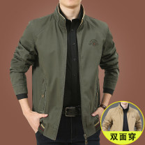 Jacket KPB Fashion City 9822 [Khaki military green] double sided wear 9822 [military green Khaki] double sided wear 9822 [black blue Khaki] double sided wear 9822 [beibai Jiuhong] double sided wear 9822 [Jiuhong beibai] double sided wear M L XL 2XL 3XL 4XL routine standard motion autumn JH9822 Lapel