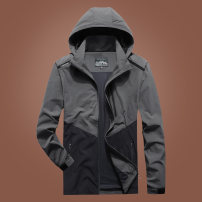Jacket KPB Fashion City M L XL 2XL 3XL 4XL 5XL 6XL 7XL 8XL routine standard Other leisure autumn Cotton 100% Long sleeves Wear out Detachable cap Business Casual youth routine Zipper placket Straight hem No iron treatment Loose cuff other Autumn of 2019 Color matching Zipper bag cotton More than 95%