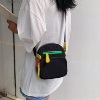 Bag The single shoulder bag oxford Small square bag Plain cat brand new Japan and South Korea Small leisure time soft zipper no Solid color Single root One shoulder cross nothing youth Vertical square Color contrast Soft handle polyester fiber inside pocket with a zipper
