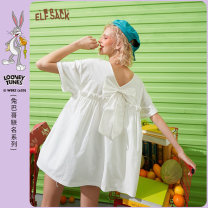 T-shirt Red bean ice green cloud white red bean ice green a cloud white a S M L Summer 2020 Short sleeve Crew neck easy Regular routine commute cotton 96% and above 18-24 years old Retro originality Elf sack / goblin's pocket 1020_ AL5254 printing Cotton 100%