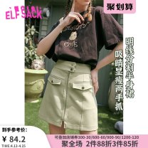 skirt Summer 2020 S M L XL Matcha green moonlight white Matcha green a Matcha Green B moonlight white a moonlight white B Short skirt street Natural waist A-line skirt Type A 18-24 years old ten million two hundred and seventeen thousand and forty-five More than 95% Elf sack / goblin's pocket other