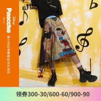 skirt Spring 2021 S M L Pinocchio world color Pinocchio world color a Mid length dress Retro Natural waist Type O 18-24 years old 1111_ AL7068 More than 95% Elf sack / goblin's pocket polyester fiber Polyester 100% Pure e-commerce (online only)