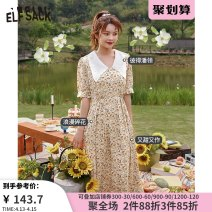 Dress Summer 2020 Miyou yellow miyou yellow a miyou yellow B S M L Mid length dress singleton  Short sleeve Sweet middle-waisted Socket A-line skirt routine 18-24 years old Type A Goblin's pocket ten million two hundred thousand two hundred and twenty-one More than 95% polyester fiber Countryside