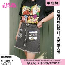 skirt Summer 2020 S M L Short skirt street Natural waist A-line skirt Type A 18-24 years old More than 95% Elf sack / goblin's pocket other Other 100% Europe and America