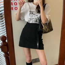 skirt Summer 2021 S. M, l, average size Jacket, skirt Short skirt commute High waist A-line skirt Solid color Type A 18-24 years old 31% (inclusive) - 50% (inclusive) other Korean version